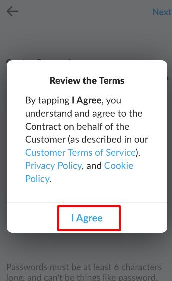 規約関連に同意する場合『I Agree』をタップ