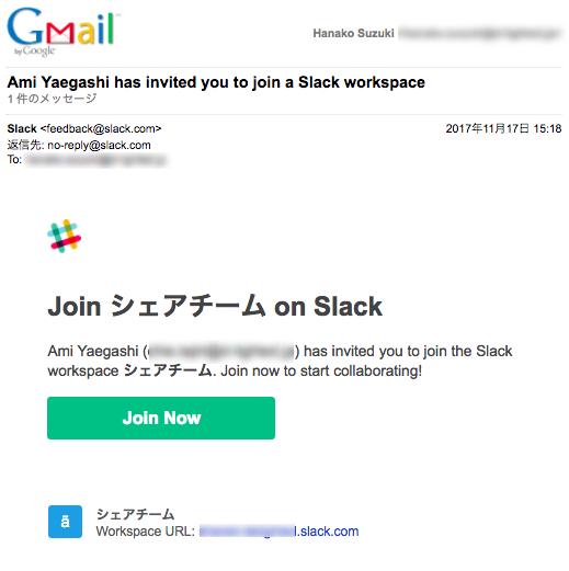 英語の場合の招待メール例