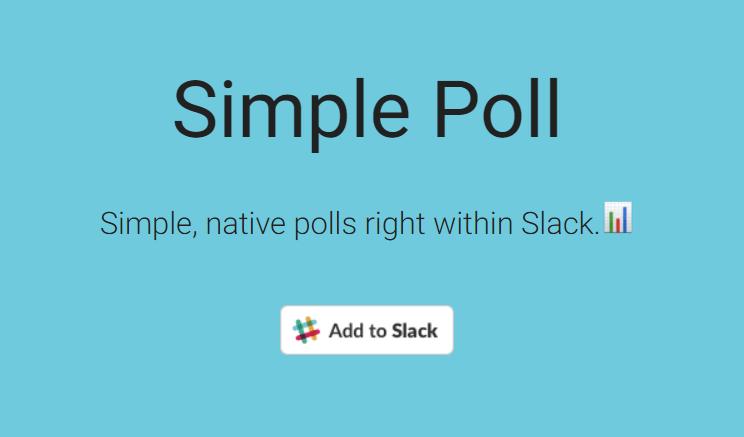 Slackでアンケートを作成する「Simple Poll」の使い方   Business Chat ...